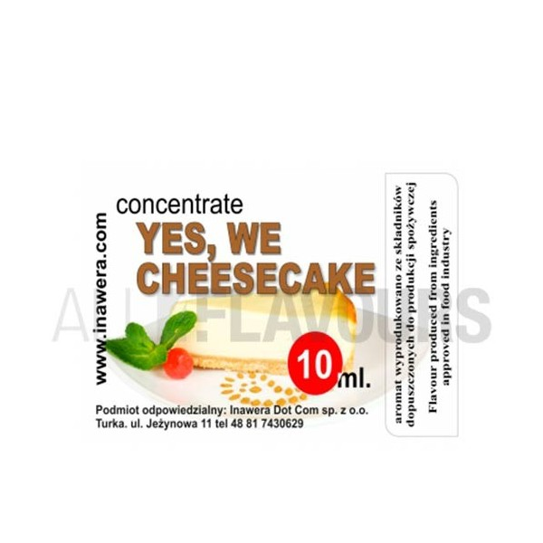 Yes We Cheesecake Concentrate 10ml...