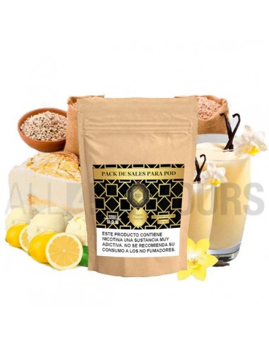 La vainilla es de madagascar y el limón es frutal y no se hace nada sintético en la calada. Una auténtica delicia.
