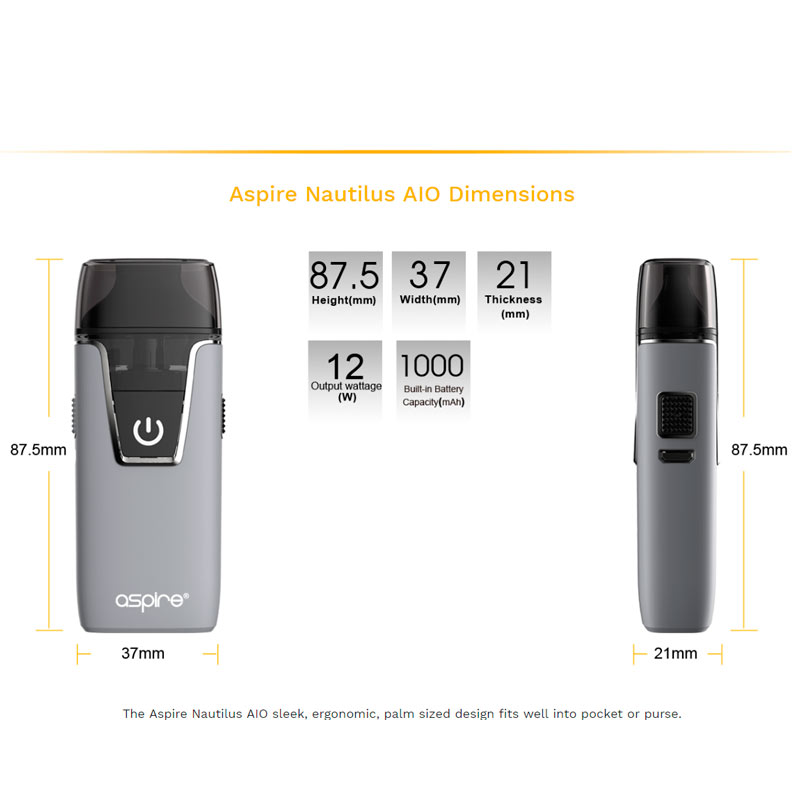 ASPIRE NAUTILUS AIO POD KIT Foto producto all4flavours